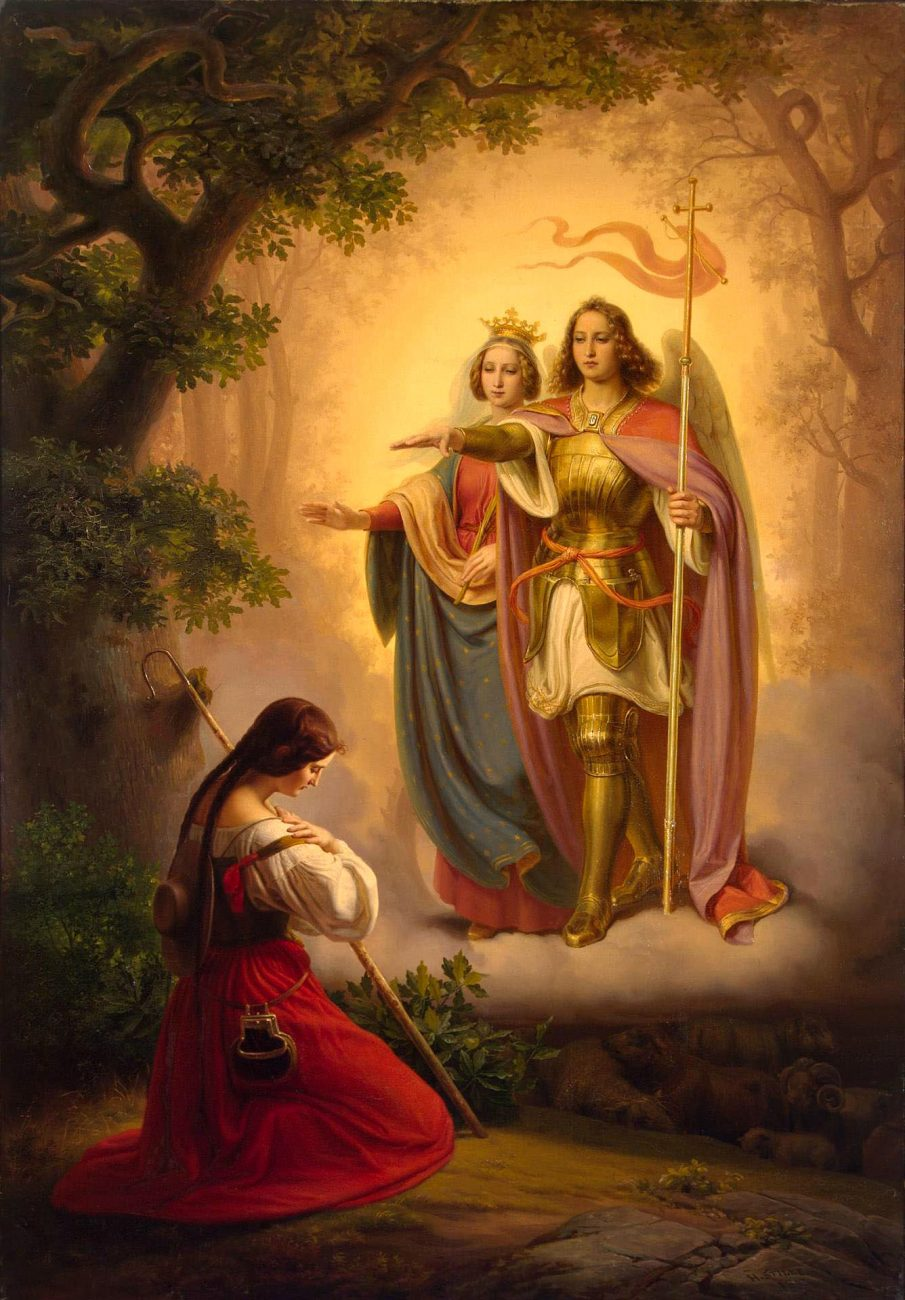 Joan of Arc hearing the voices of St. Catherine and St. Michael