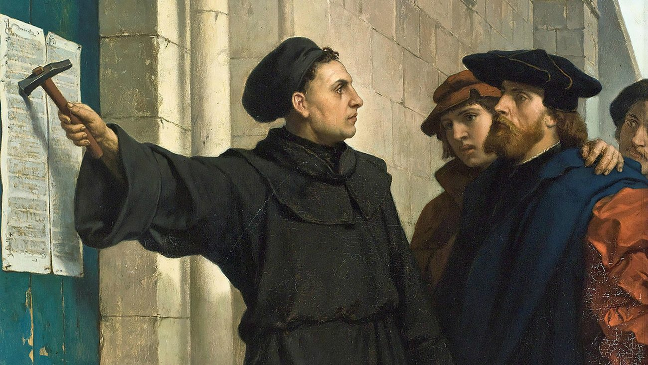 Martin Luther Nailing His Ninety-five Theses, 1517
