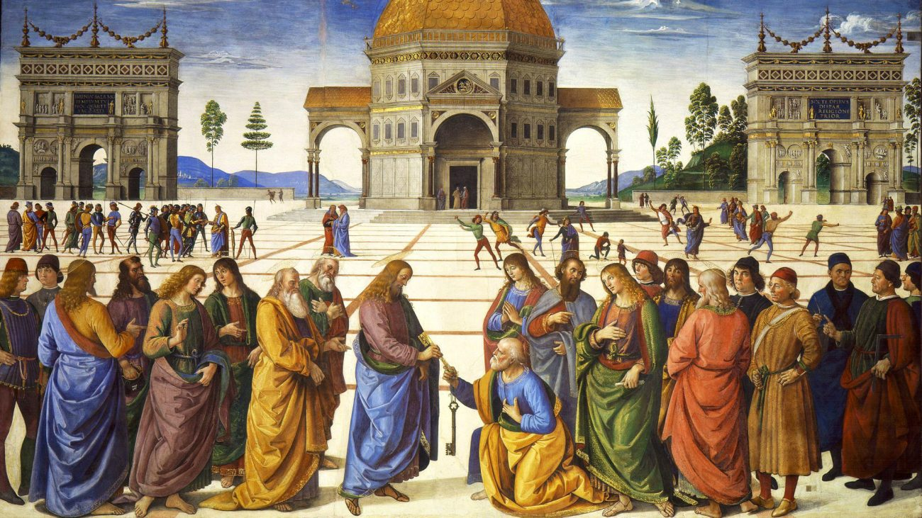 The Delivery of the Keys to Saint Peter, Pietro Perugino