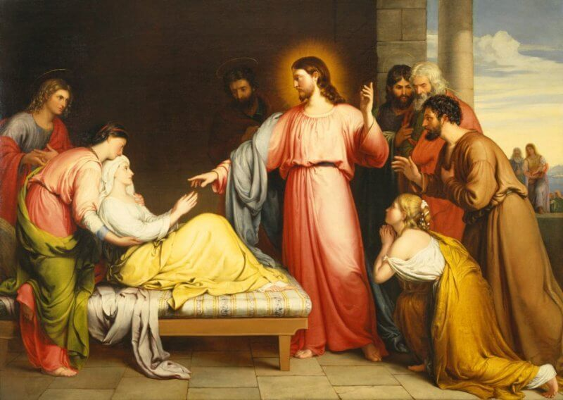 """Christ Healing the Mother of Simon Peter's Wife"" by John Bridges"