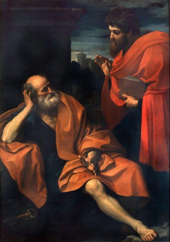 """Paul Rebukes the Repentant Peter"" by Guido Reni"