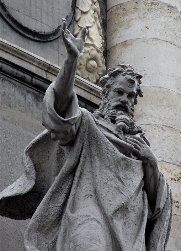 A statue of the 2nd Century Greek cleric, St. Irenaeus of Lyon
