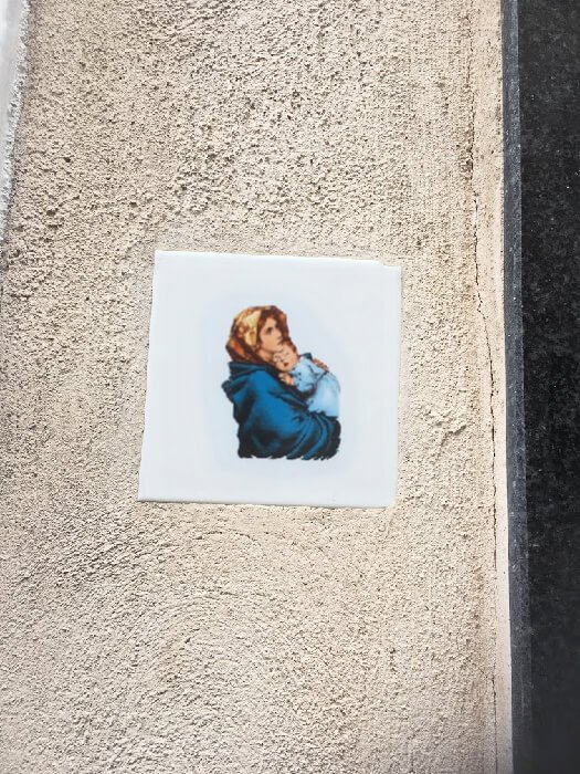 Madonna and Child wall art in Malta.