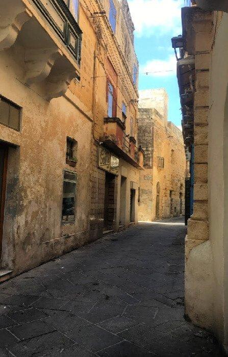 A street in Rabat, Malta.