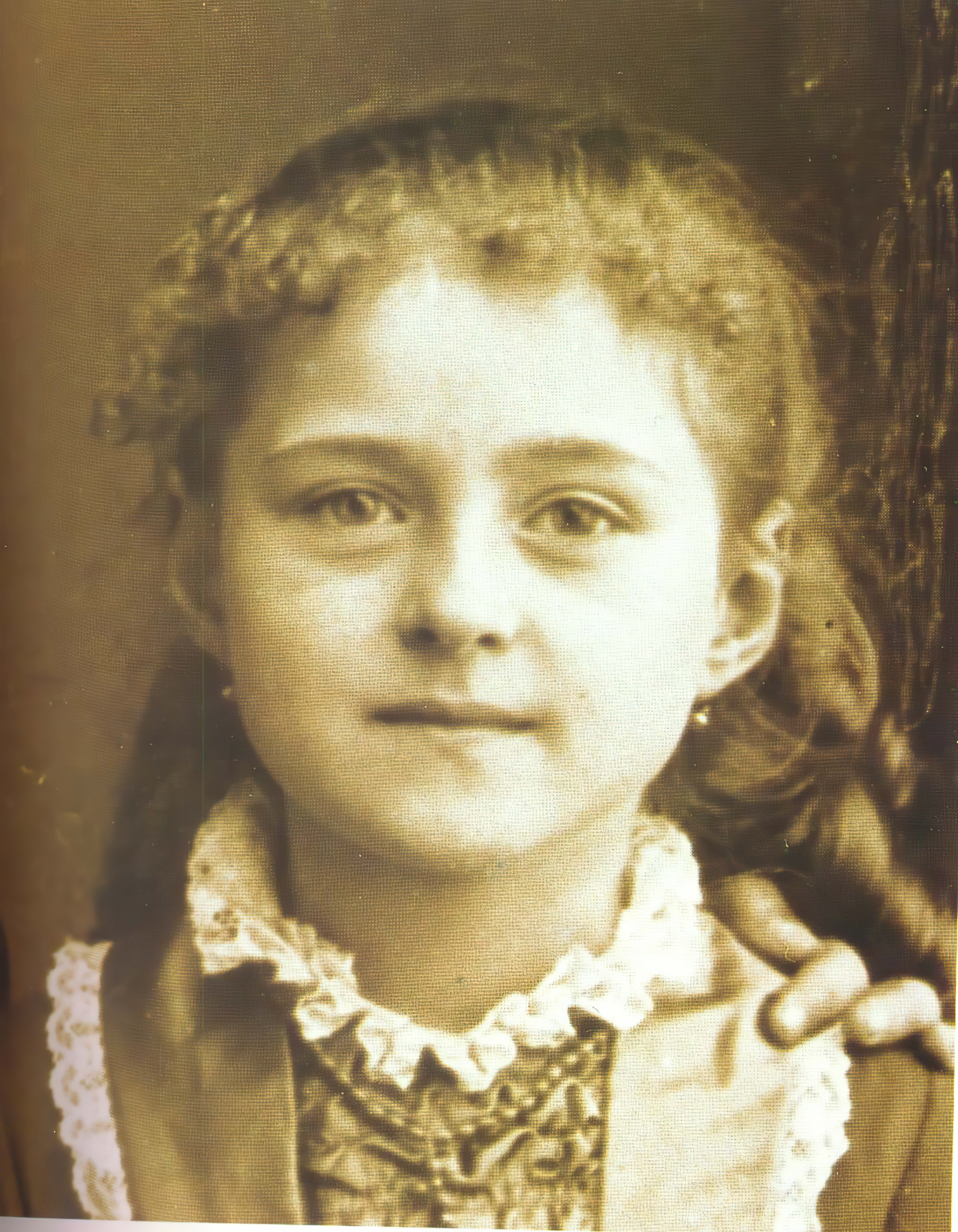 St. Thérèse of Lisieux at 8 years old in 1881